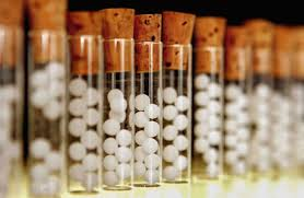 Toma del medicamento homeopático