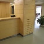 recepción clínica de tratamientos del dolor